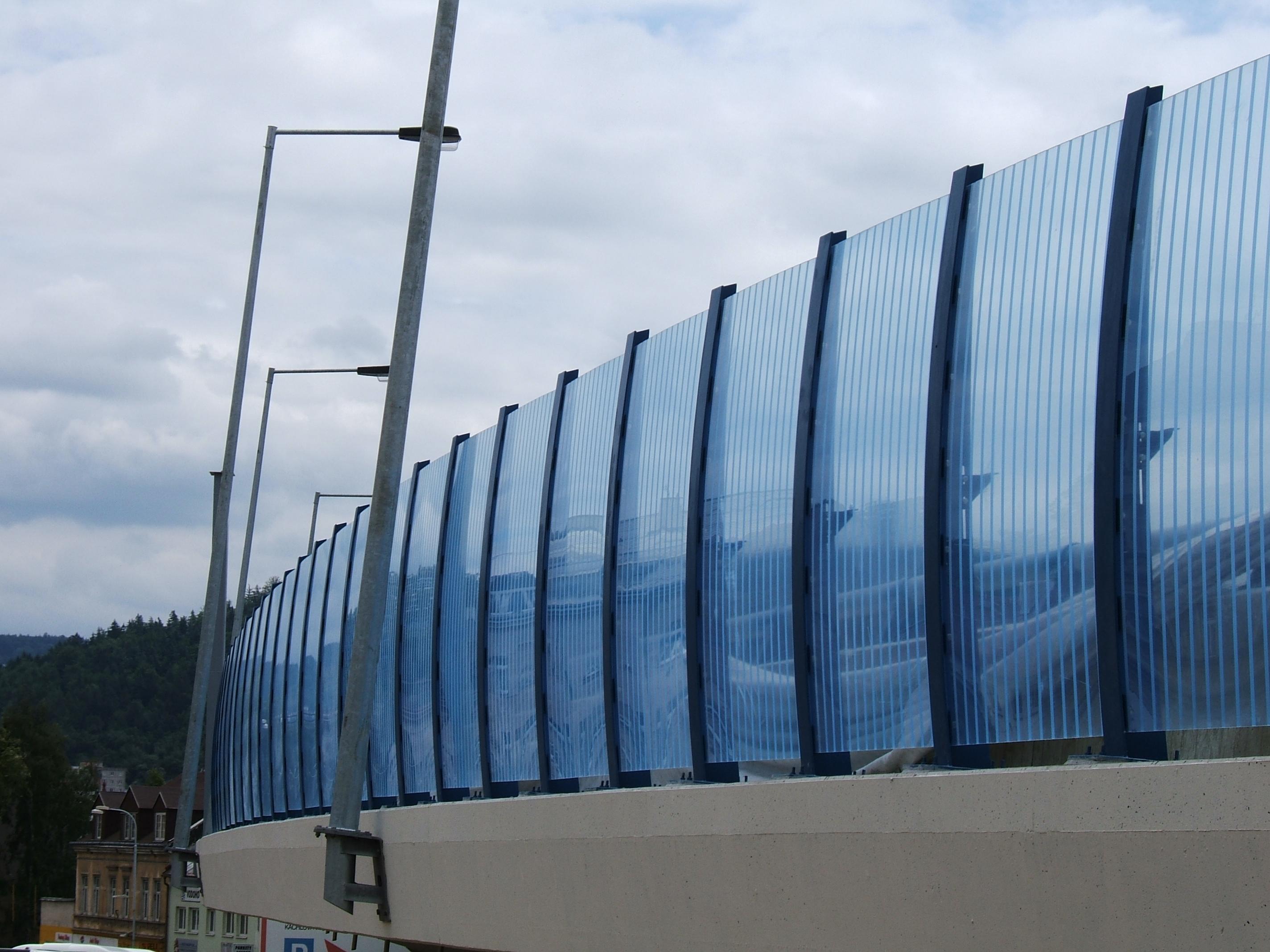 Průhledný panel Plexiglas Soundstop